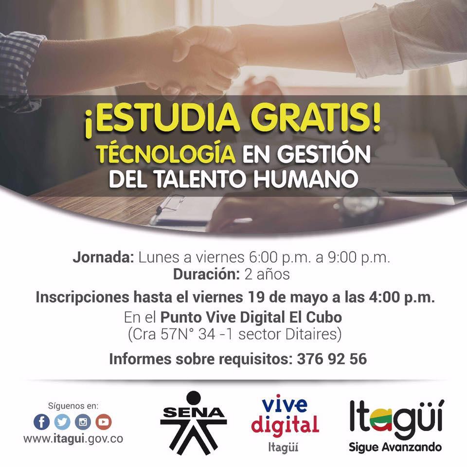 estudia-gratis-tecnologia-en-gestion-del-talento-humano-municipio-de-itagui-2017